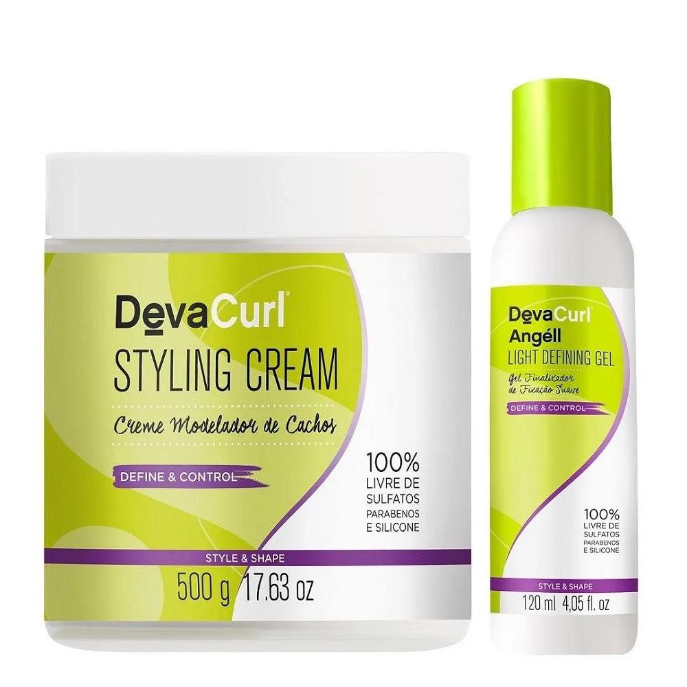 Deva Curl Styling Cream 500g e Angéll Light Gel 120ml