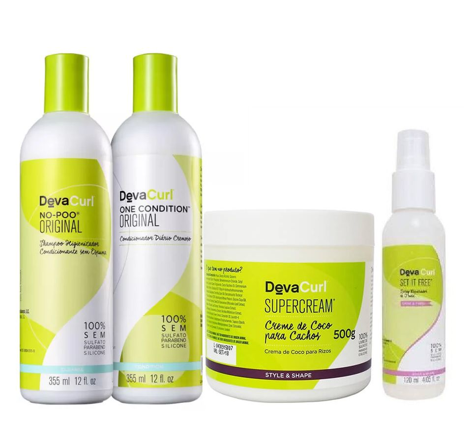 Deva Curl Tradicional 2x355ml Supercream 500g e Set 120ml