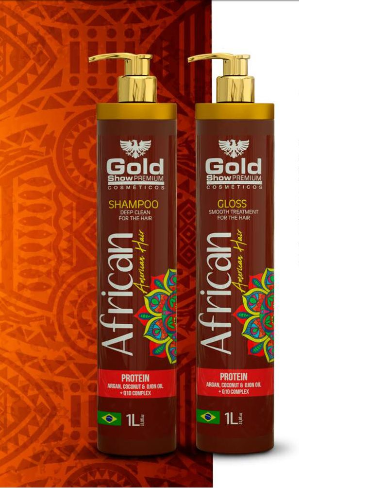 Escova Progressiva Africana Gold Show 2x1000ml