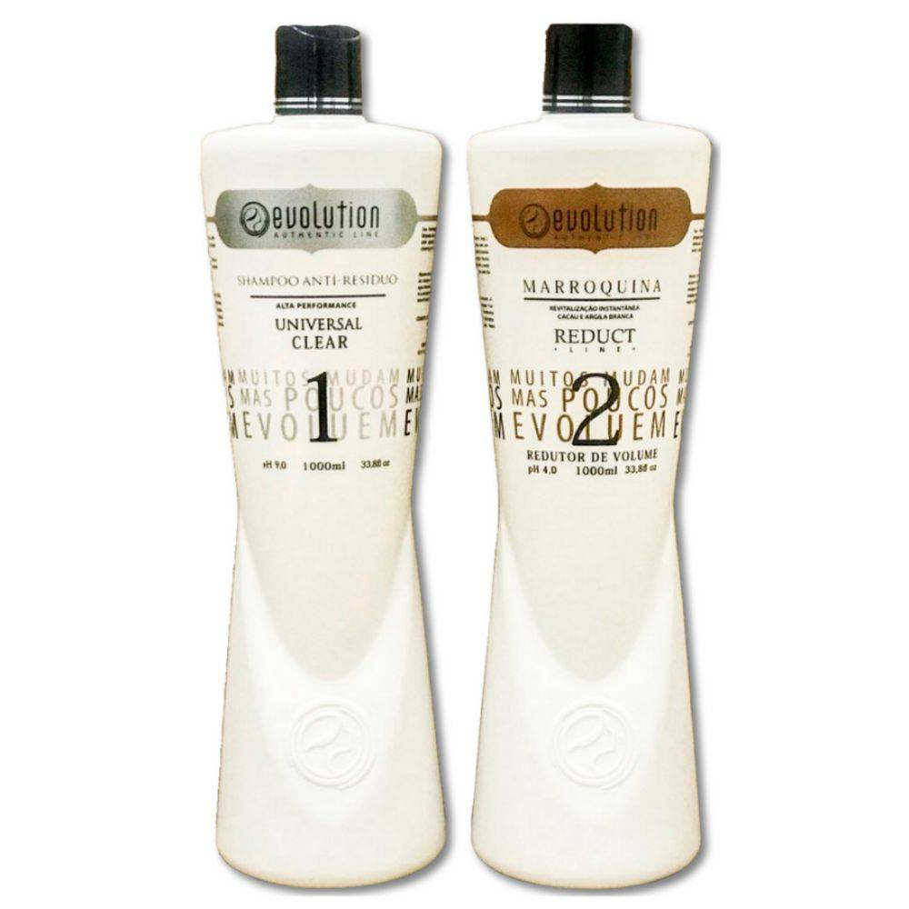 Evolution Authentic Line Escova Marroquina Cacau 2x1000ml