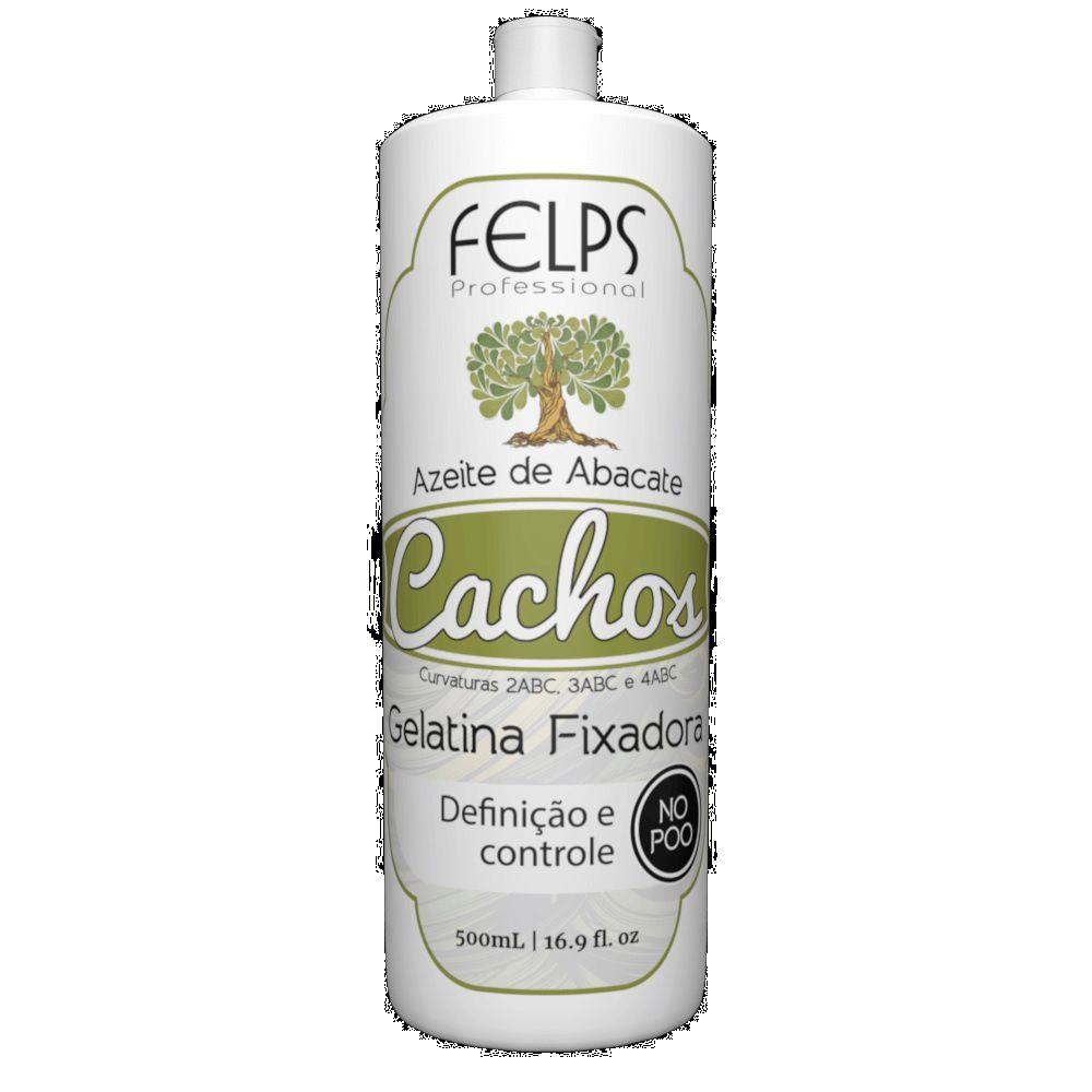 Felps cachos gelatina fixadora azeite de abacate 500g
