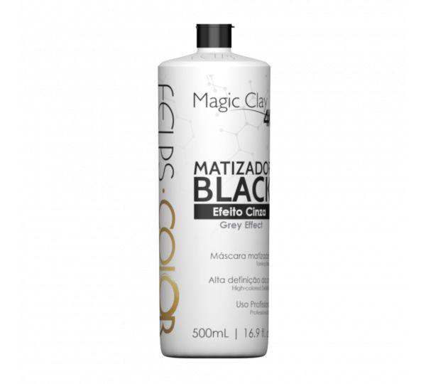 Felps Color Matizador Black Efeito Cinza Magic Clay 4K 500ml