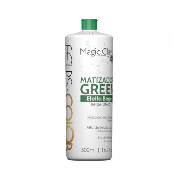 Felps Color Matizador Green Efeito Bege Magic Clay 4K 500ml