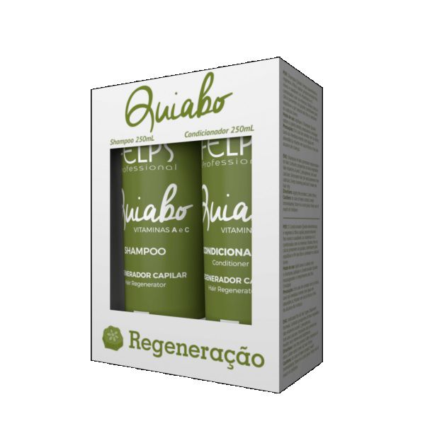 Felps Kit Duo Regenerador Capilar Quiabo 2x250ml