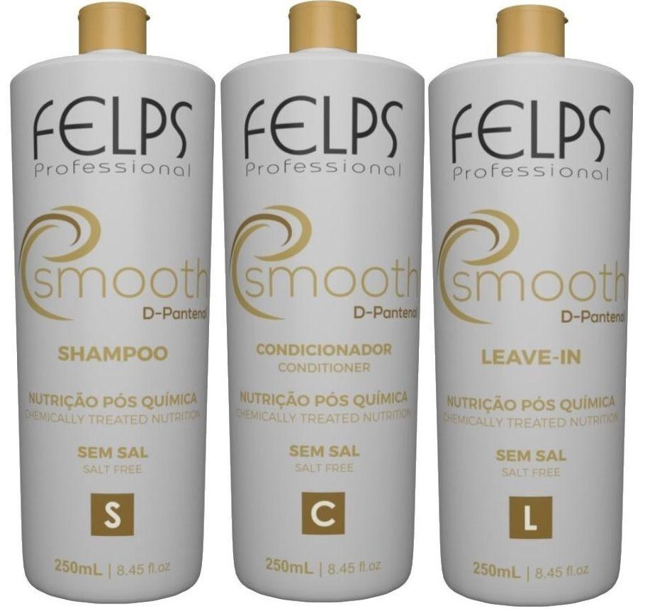 felps Kit Trio Smooth Nutrição Pós Química 3x250ml