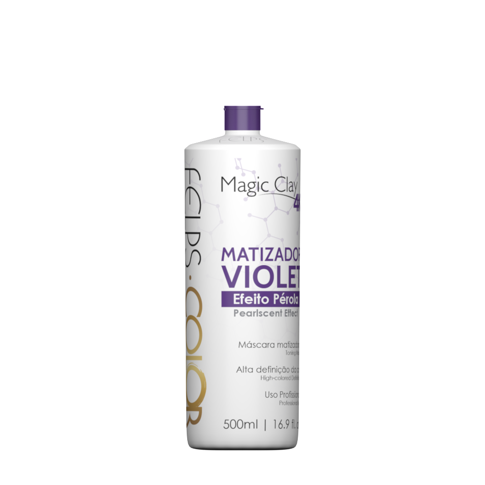 Felps Matizador Violet Magic Clay Efeito Perola 500ml