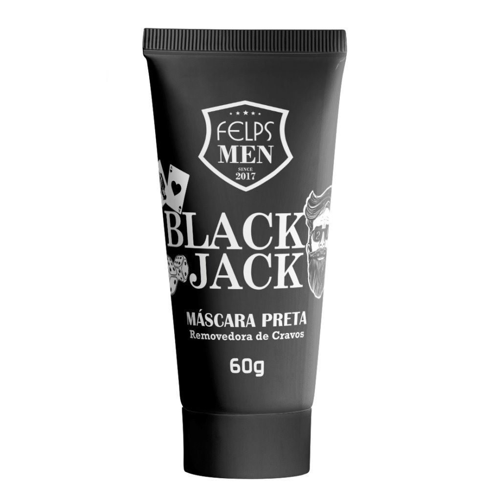Máscara Removedora de Crevos Felps Men Black Jack 60ml