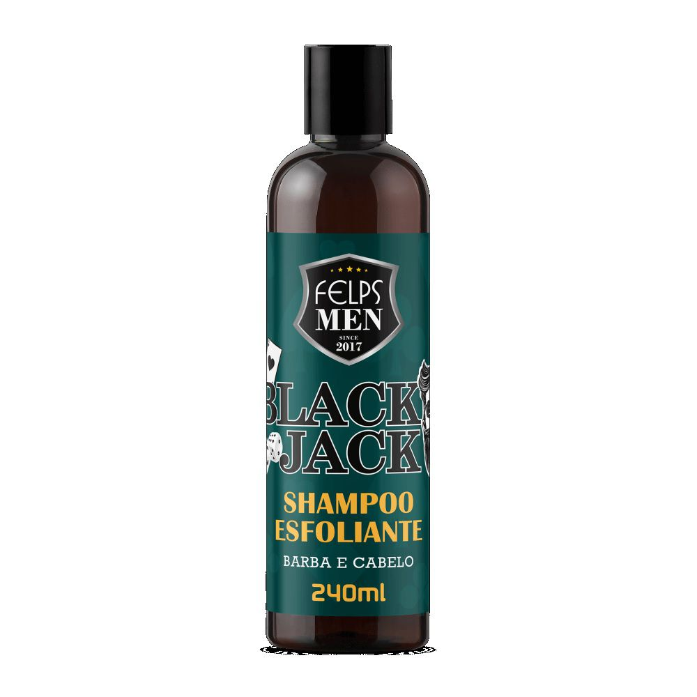 Shampoo Esfoliante Felps Men Black Jack 240g