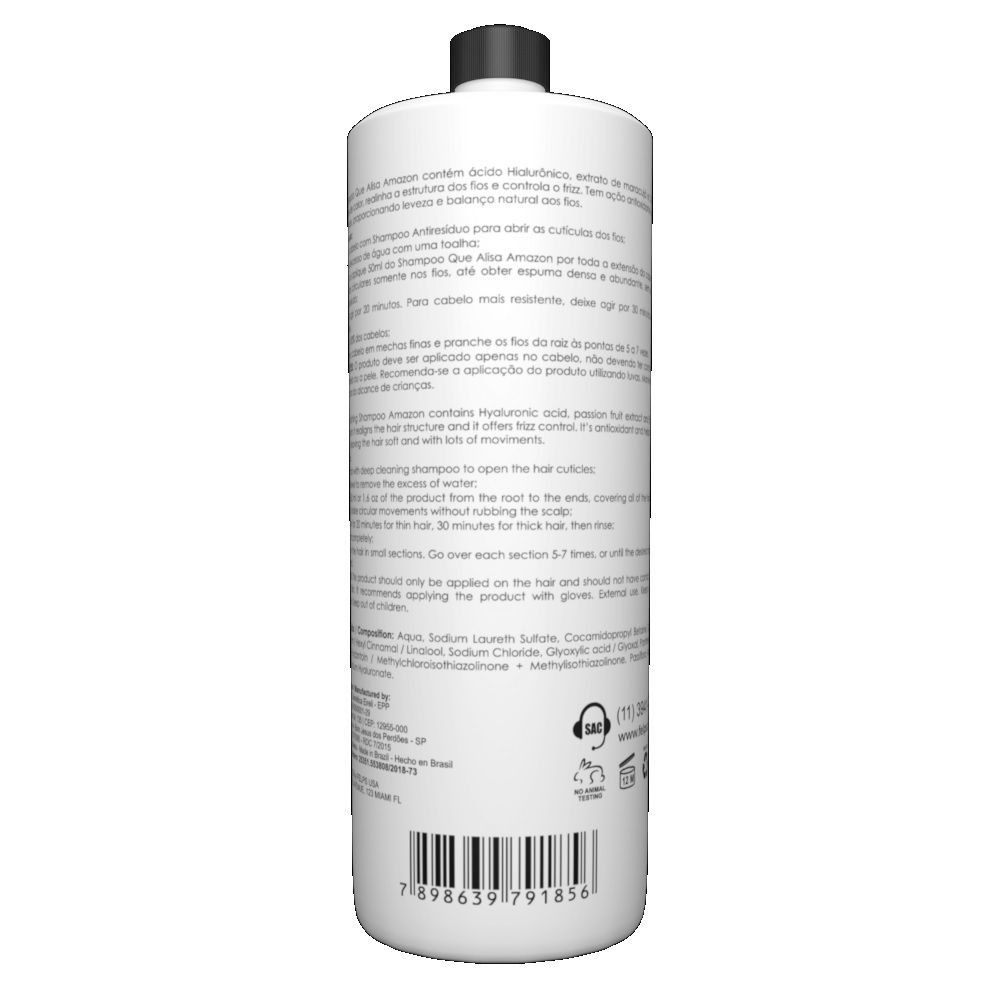 Shampoo Alisante Felps Amazon Liss Express 500ml