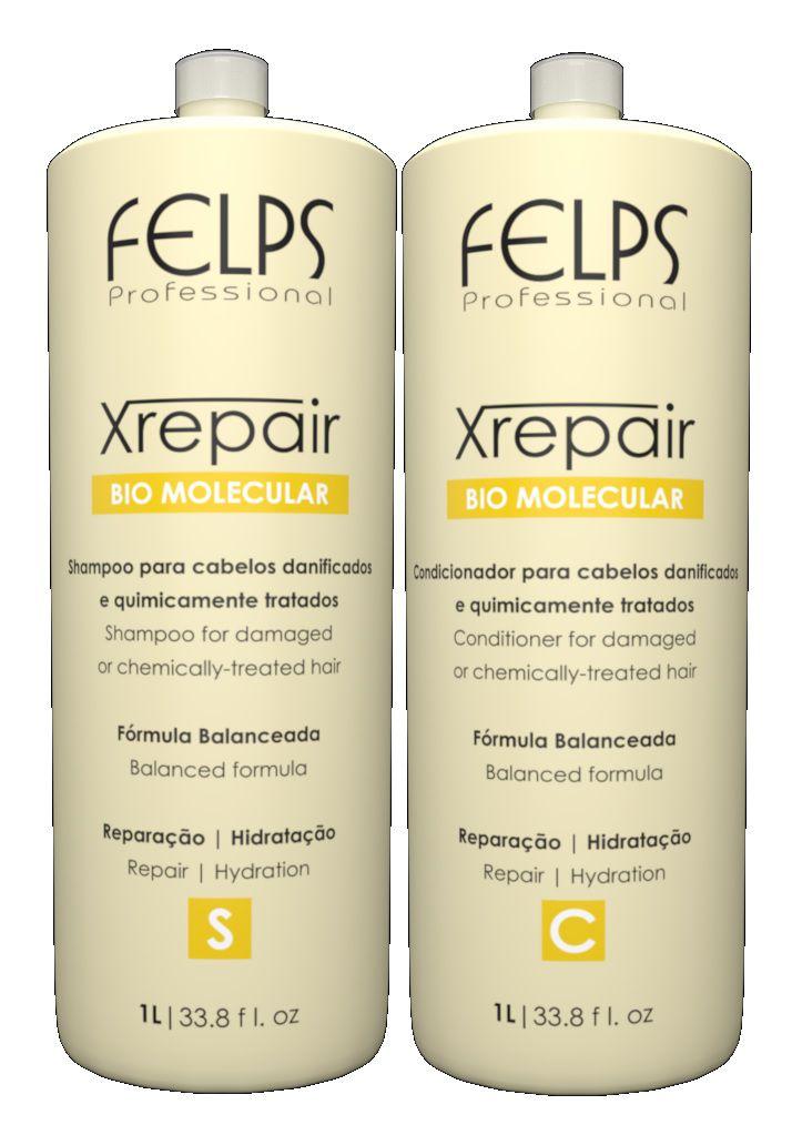 Felps Xrepair Shampoo e Condicionador 1L