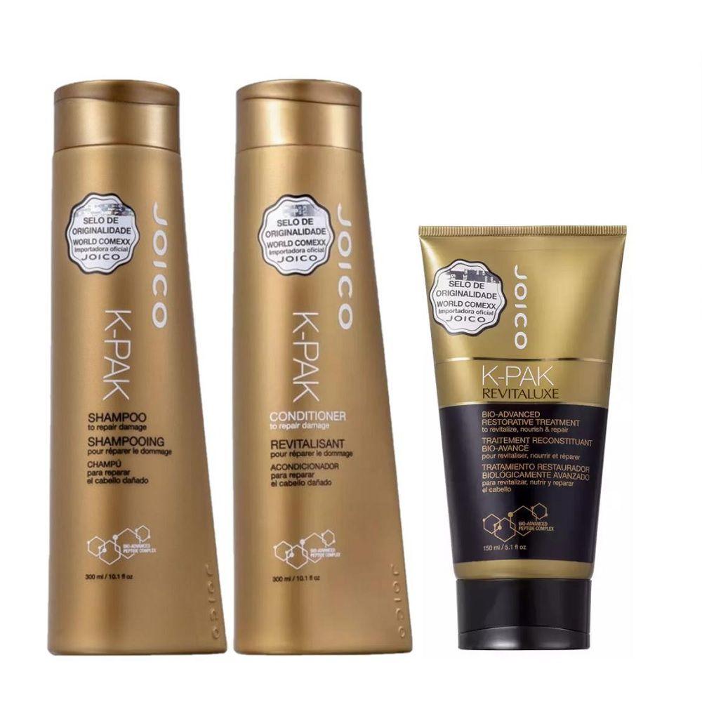 Joico K-Pak Shampoo, Condicionador e Tratamento Revitaluxe