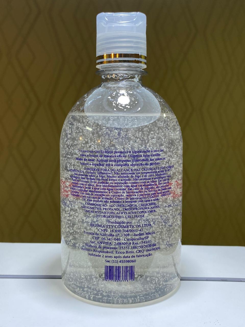 Kit Álcool em Gel 70% Eco Sept Higienizador de Mãos 4 x 500ml