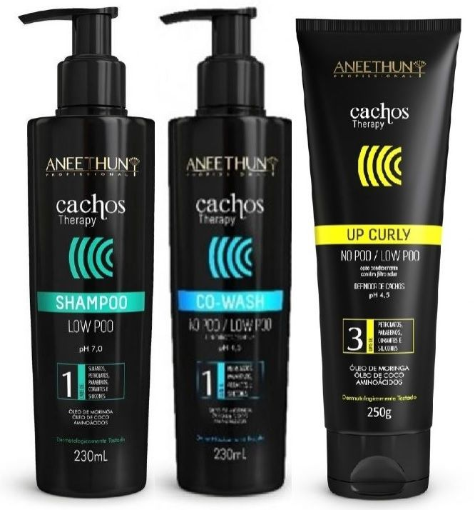 Kit Aneethun Cachos Shampoo/Co-wash/Up Curly