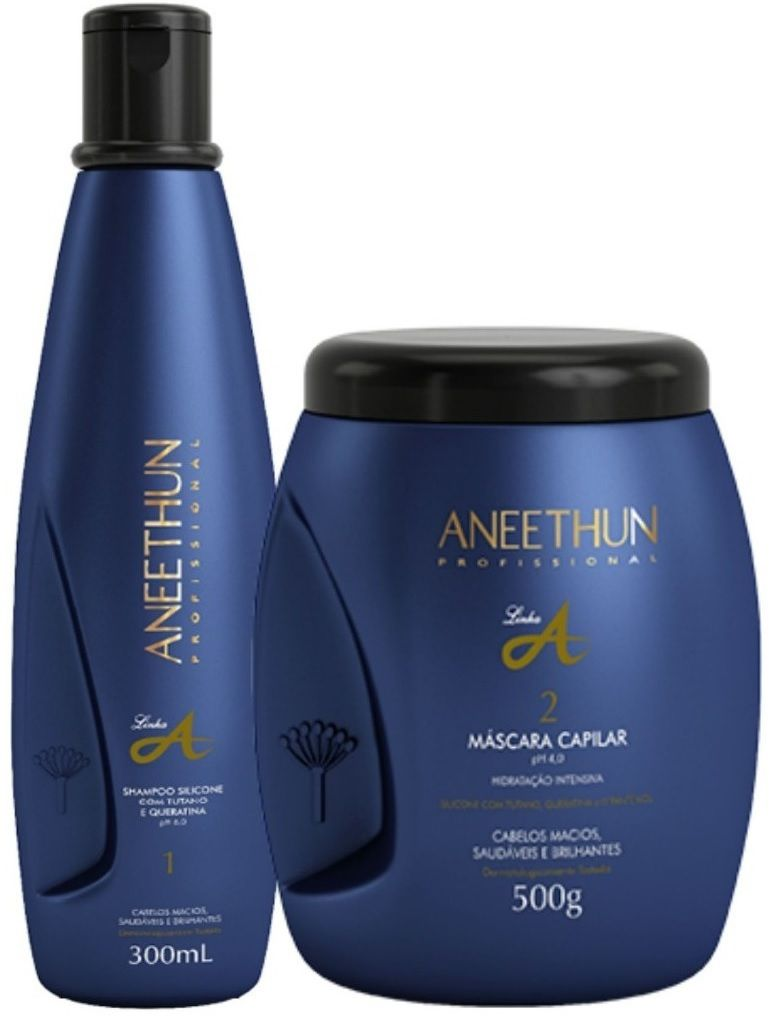 Kit Aneethun Linha A Shampoo 300ml e Máscara Capiliar 500g