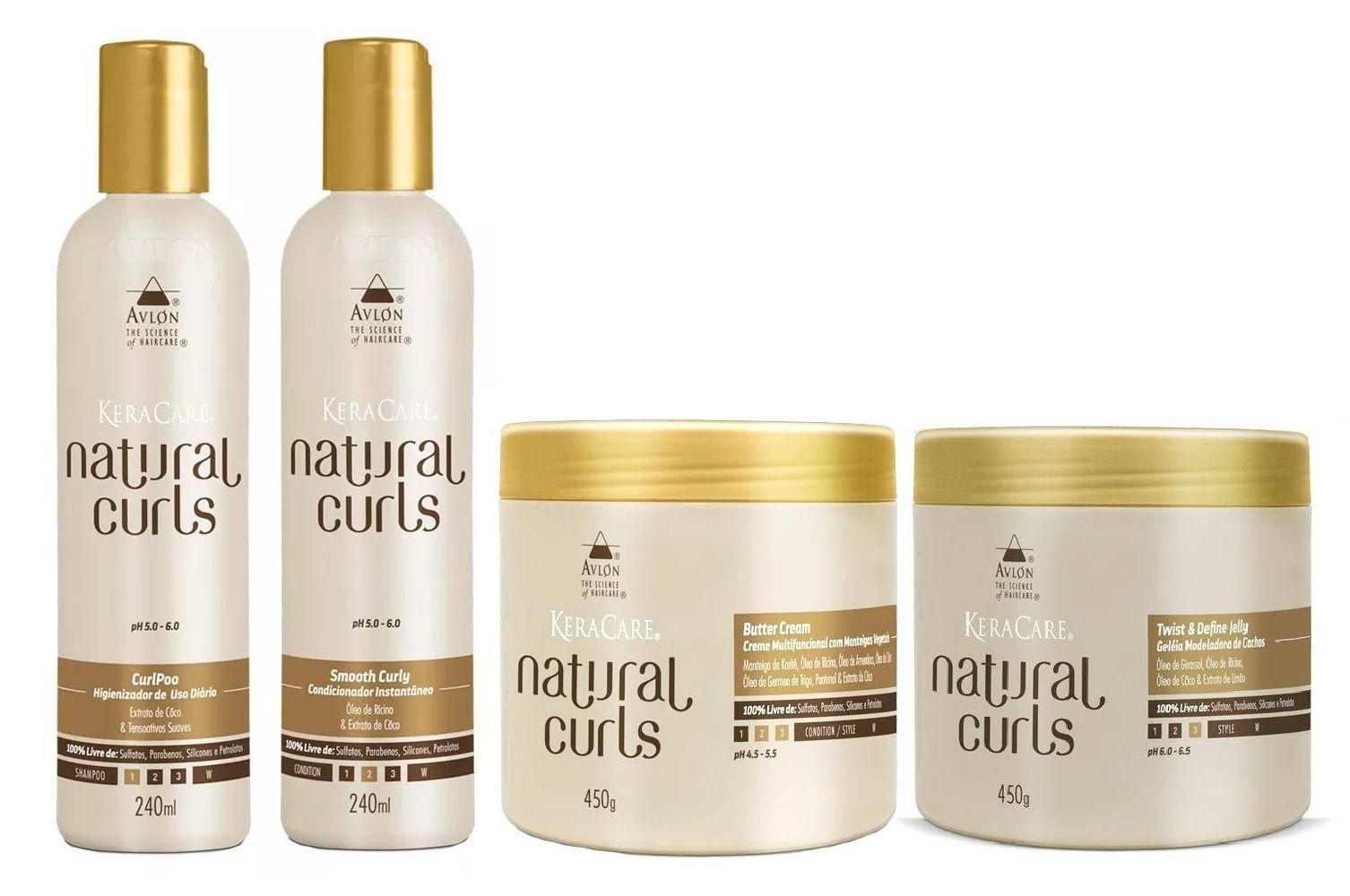 Kit Avlon Natural Curls Cabelos Cacheados