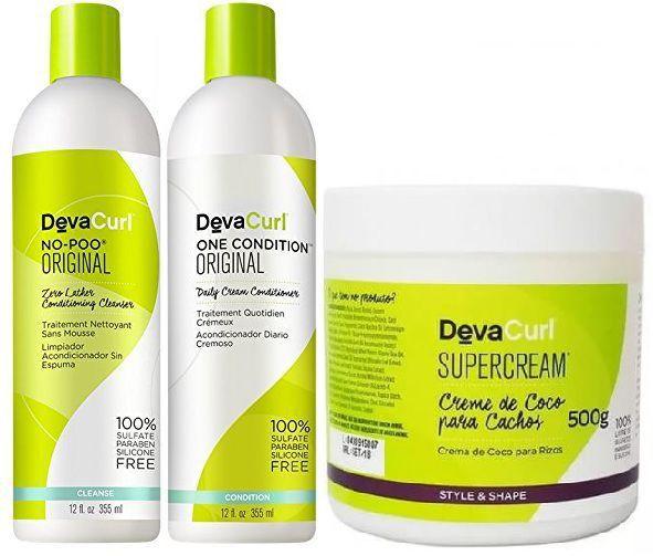 Kit Deva Curl 3 Produtos Supercream