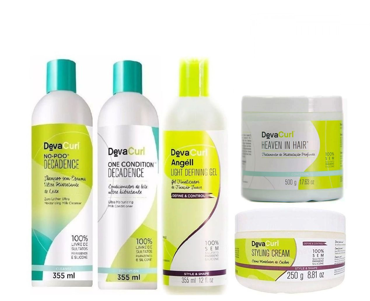 Kit Deva Curl Decadence Home Care ( 5 itens)