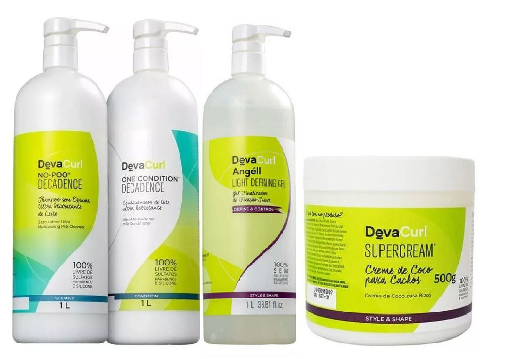 Kit Deva Curl Decadence Profissional (4 Produtos)