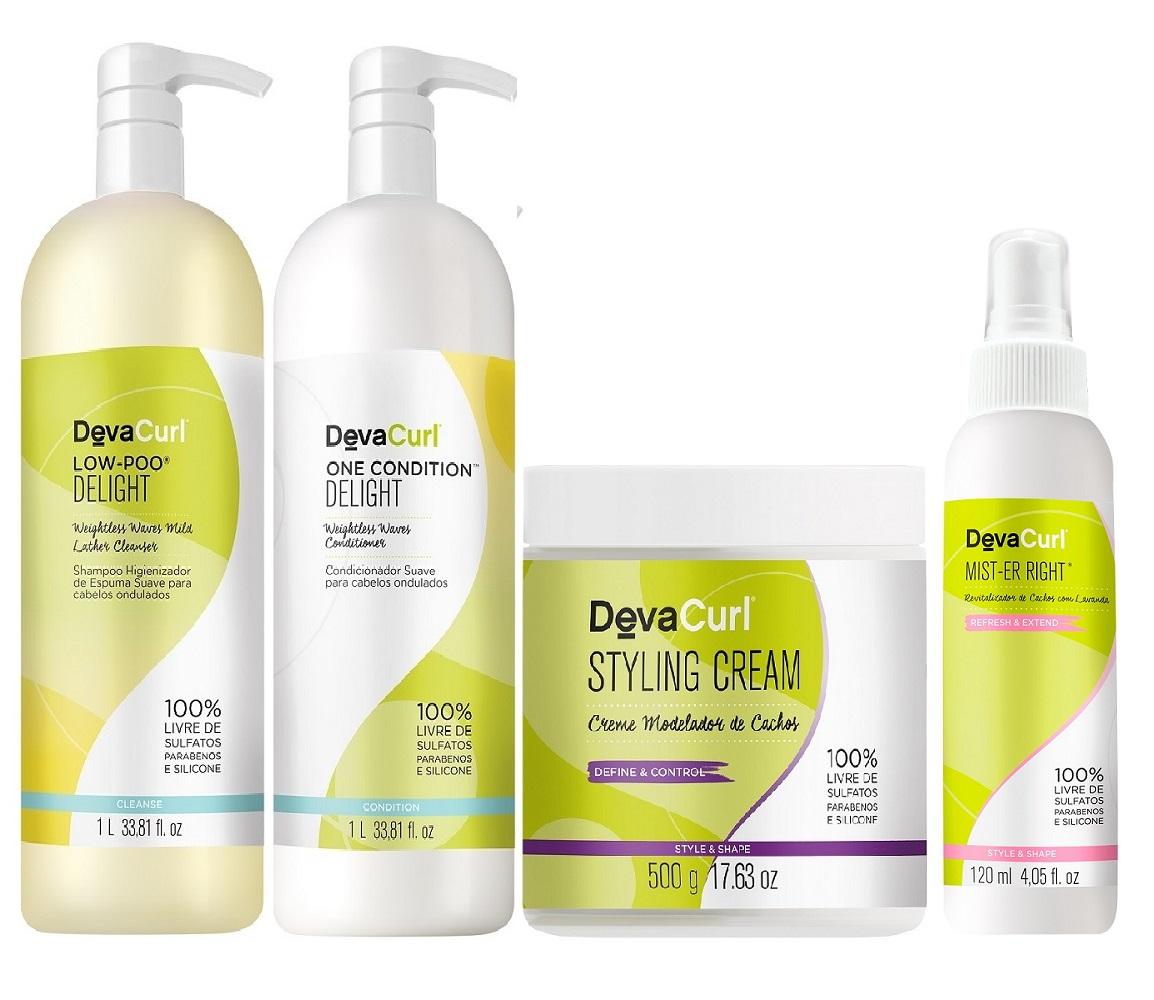 Kit Deva Curl Delight Styling Cream e Mister Er Right