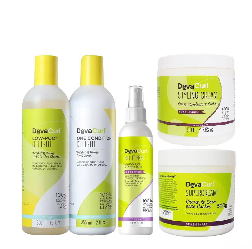 Kit Deva Curl Delight+supercream E Styling E Set It Free