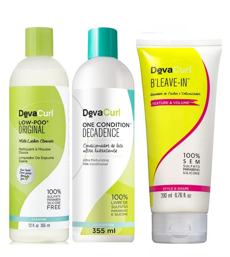 Kit Deva Curl Low Poo+ One Decadence e Bleave