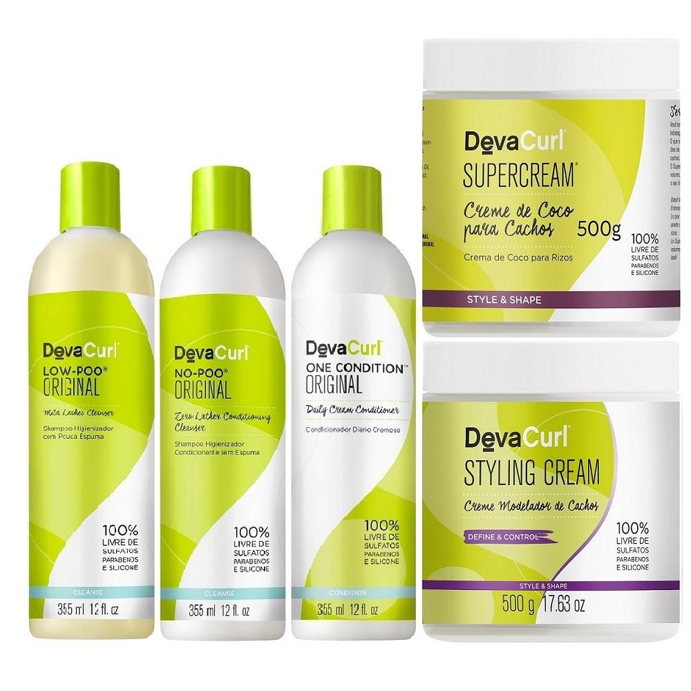 Kit Deva Curl Madeixas Cacheadas Home Care (5 Itens)