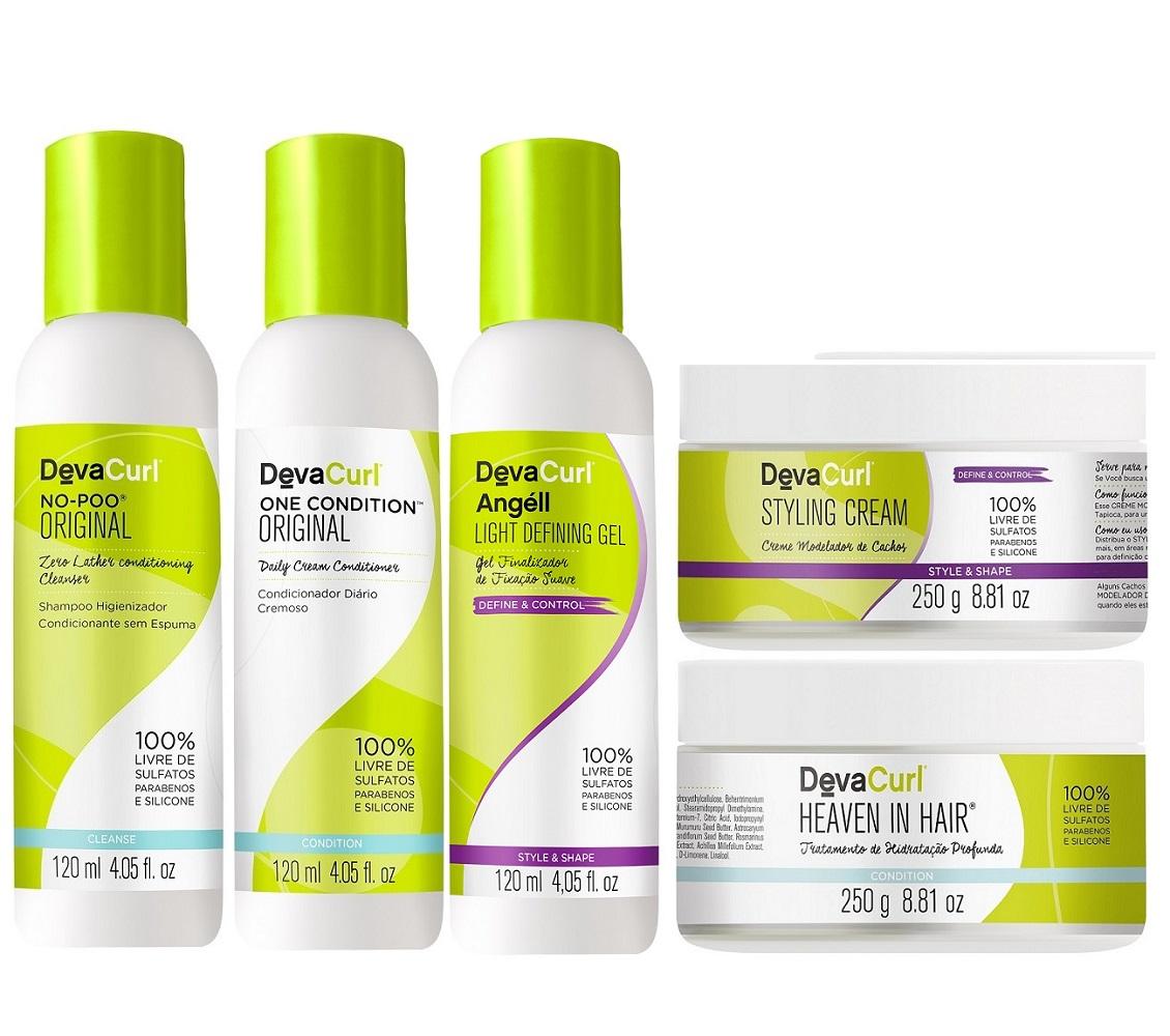 Kit Deva Curl Mini com Styling e Heaven Hair