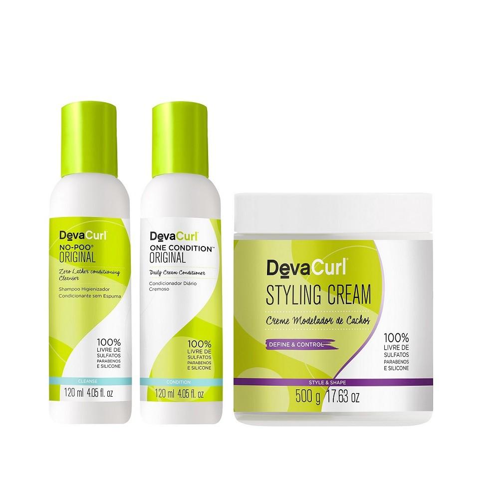 Kit Deva Curl Original Home Care 2x120ml e Styling Cream 500g