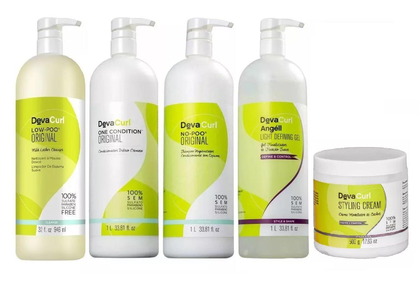 Kit Deva Curl Profissional (5 produtos)
