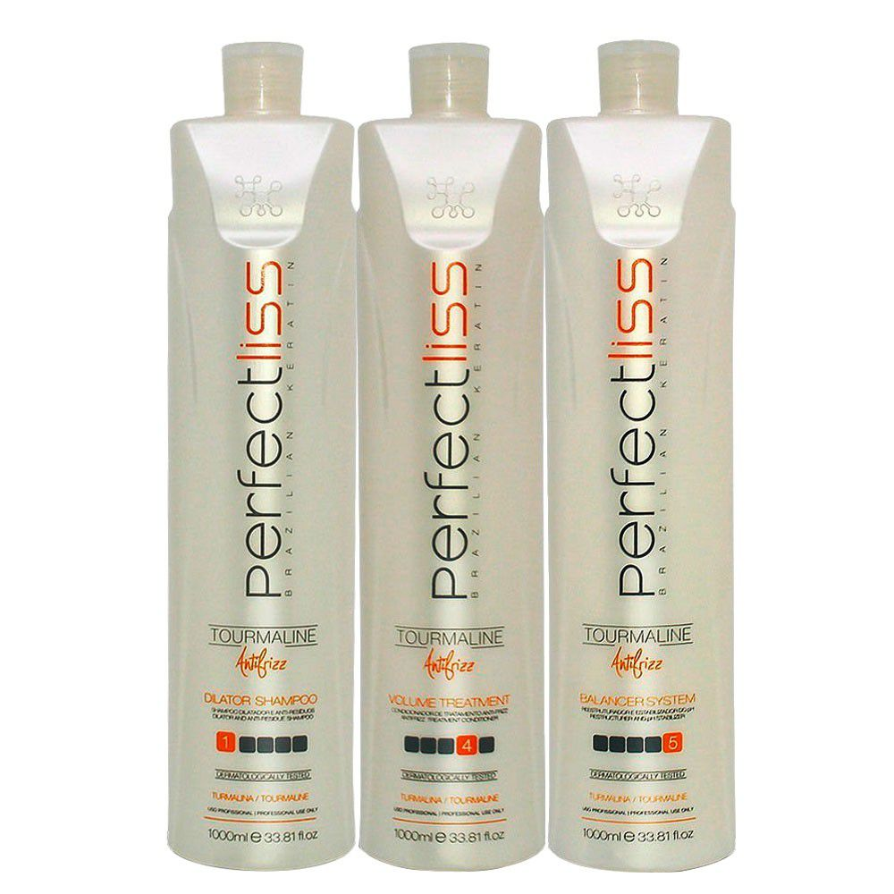 Kit Escova Progressiva Turmalina Perfectliss (3x1000ml)