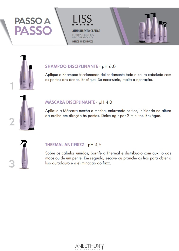 Kit Home Care Aneethun Liss System ( 3 Produtos)