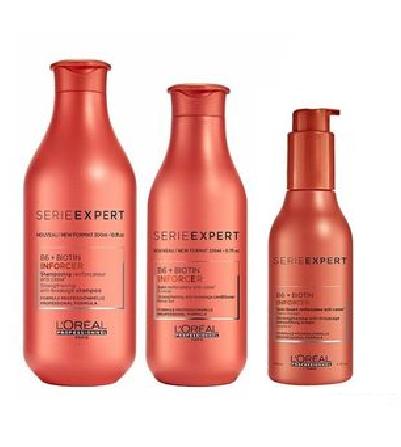 Kit Loreal inforcer Shampoo 300ml Condicionador 200ml e Creme de Pentear 150ml