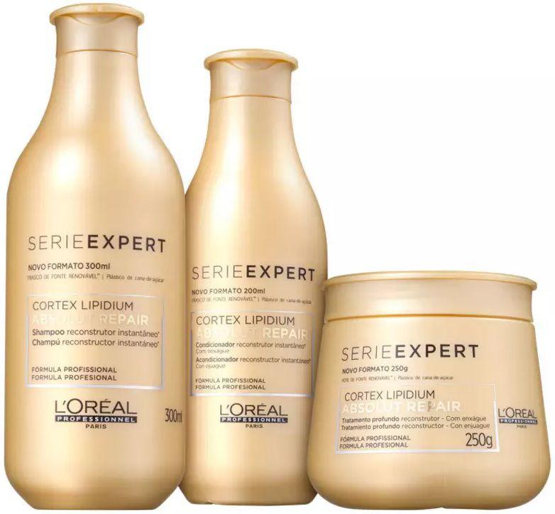 c8cf15074 Kit Loréal Professionnel Absolut Repair Lipidium Tratamento (3 Produtos) -  Empório do Cabeleireiro