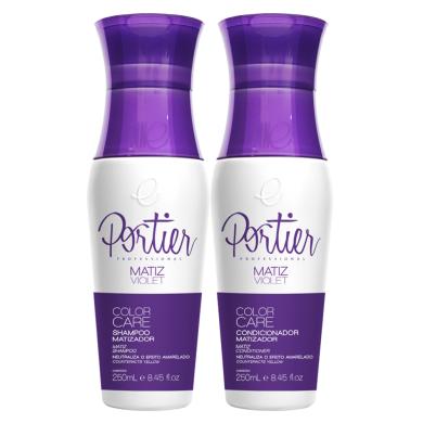 Shampoo e Condicionador Portier Matizador Violeta 2x250ml