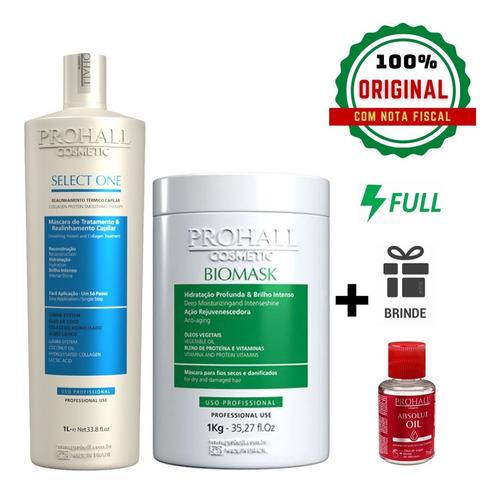 Kit Prohall Progressiva Select One 1000ml e Mascara Biomask 1kg