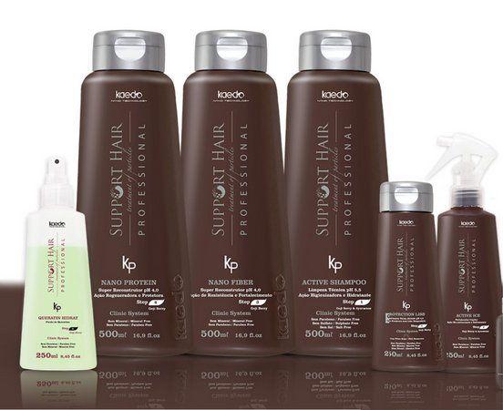 Kit Reconstrução Support Hair Kaedo Com 6 Produtos