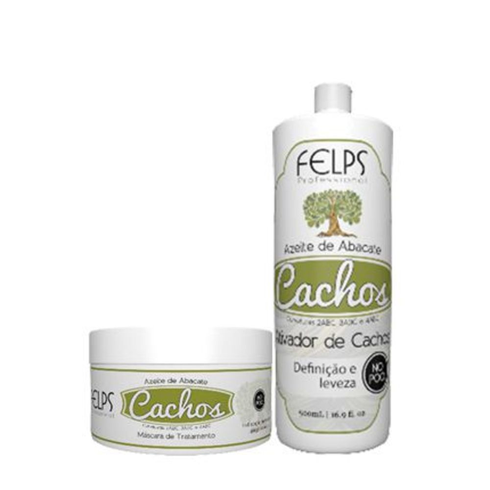 Kit Shampoo e Máscara Felps Cachos Azeite de Abacate (2 produtos)