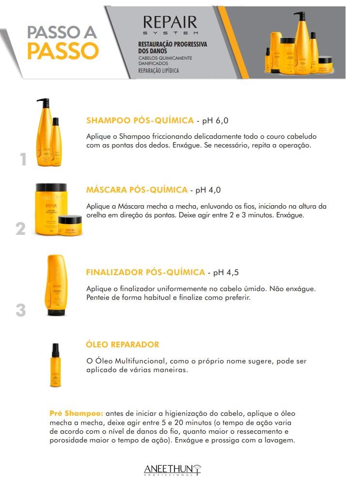 Kit Shampoo e Máscara Profissional Aneethun Repair System