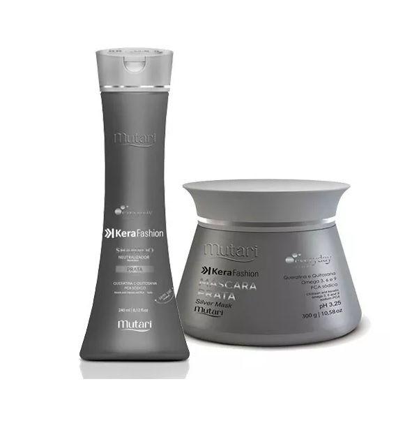 Kit Shampoo Máscara Kerafashion Prata Everyday