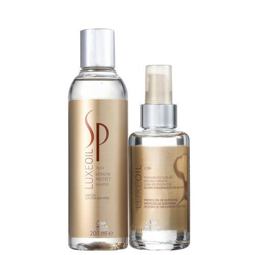 Kit SP System Keratin Luxe Oil Duo (2 produtos)