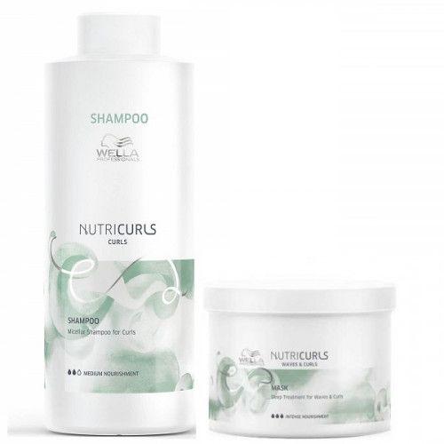Kit Shampoo Wella Nutricurls 1000ml e Máscara 500g