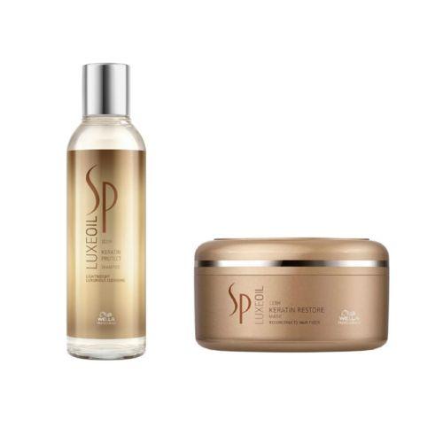 Kit Wella SP Luxe Oil Shampoo e Máscara Restore