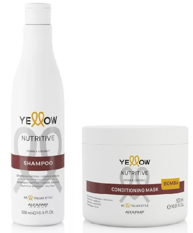 Kit Yellow Nutritive Shampoo 500ml+Mascara 500ml