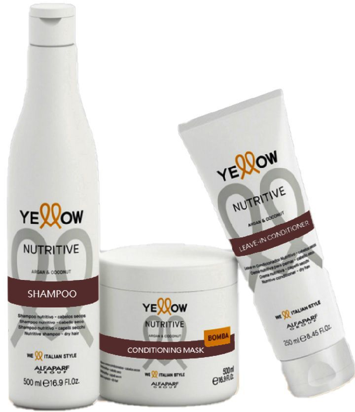 Kit Yellow Nutritive Shampoo 500ml+Mascara 500ml+Leave-in Conditioner 250ml