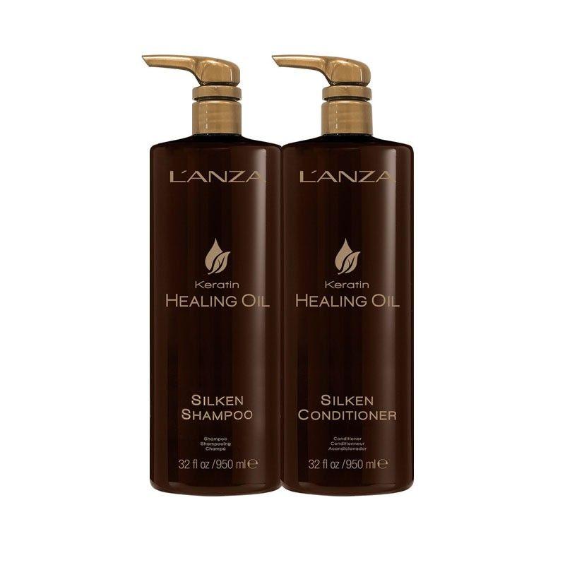 Lanza Shampoo e Condicionador Keratin Healing Oil (2x950ml)
