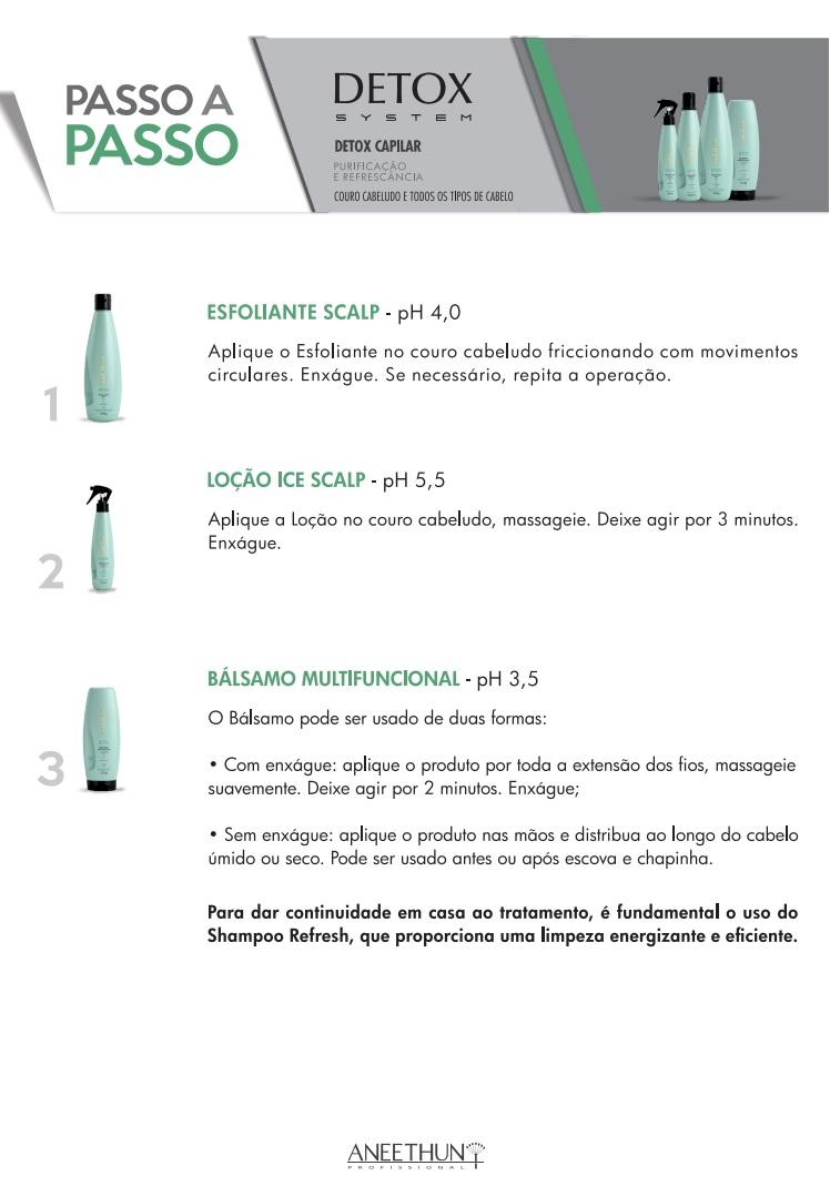 Loção Ice Scalp Antipoluição Aneethun Detox System 150ml