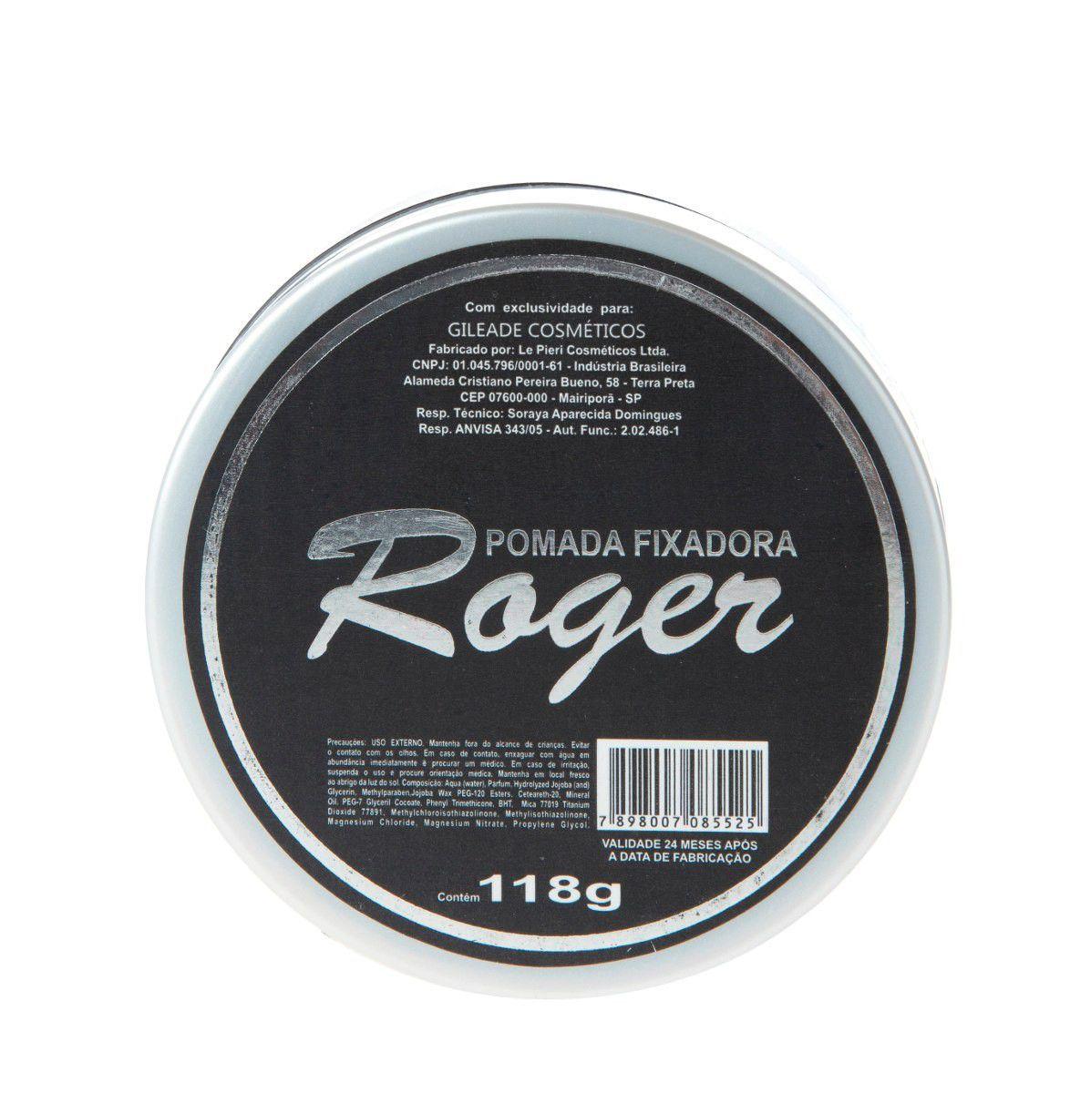Pomada Fixadora Roger 118gr  (12 unidades)