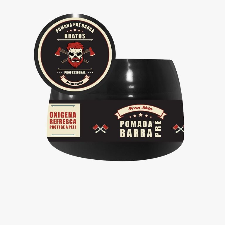 Pomada Pré Barba Iron Skin Kratos Kaedo 55g