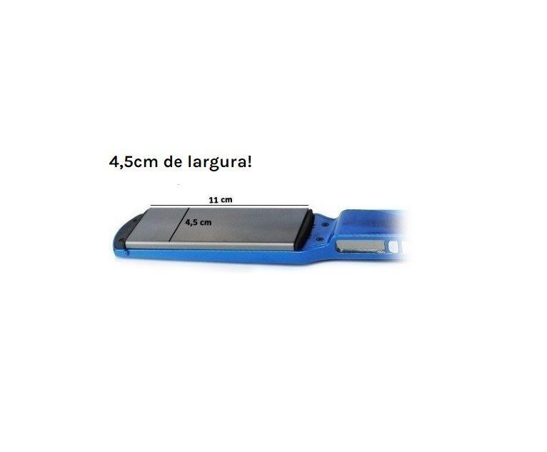 Prancha Chapinha Babiliss Pro Nano Titanium Azul Larga