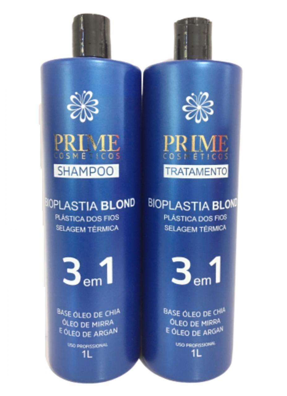 Progressiva Matizadora Bioplastia Prime Cosméticos 2x1000ml